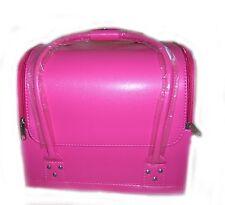 Large Pink Cosmetic Beauty Vanity Case Make up Box Bag Nail Art