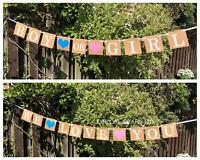 Party Gender Reveal Boy Girl Banner Baby Shower Bunting Decorations Photobooth