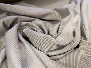 Stretch Spandex (elastane) Rib Jersey Fabric, Per Metre - Silver Grey