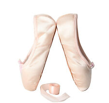 Girls Ballet Pointe Flat Shoes Ballerina Slippers Pumps Dancewear With Ribbons