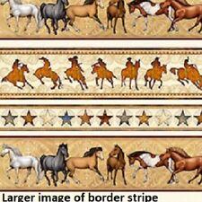 Mustang Sunset Horse cotton quilt fabric Quilting Treasure Border Stripe C