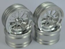 "Vintage 2.2""Aluminum Wheels 9 Spokes Silver For Team Associated RC10 World's Car"