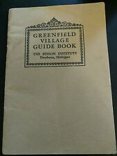 Greenfield Village Guide Book 1949 Bonus Mother's Day Ephemera Included as Found