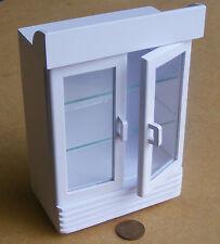 Escala 1:12 pintado de blanco dos puerta Bebida Refrigerador De Pantalla Tienda de muñeca casa miniatura