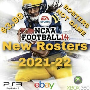 NCAA 14 FOOTBALL New ROSTERS READY - 2021 - 2022 SEASON - NOT GAME PS3 XBOX 360