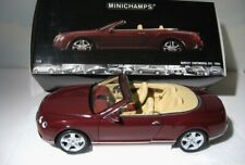 Bentley Continental GTC   Minichamps 1:18 diecast    2006  Bordeaux Red      MIB