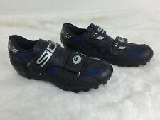 Sidi Cycling Mountain Biking Competitive Riding Shoes Blue Black Mens Sz 38, 7.5