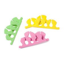 2 Séparateur Vert forme de Pied Souple Orteil Doigt Pédicure Manucure Nail Art