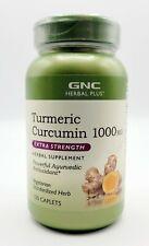 GNC Herbal Plus Turmeric Curcumin 1000 Mg Extra Strength 120 Caplets exp 09/2023