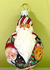 "Patricia Breen Mini Santa Du Monde ""Ornaments"" 2004 #2427 Glass & Swarovskis"