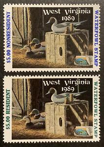 TDStamps: US West Virginia Duck Stamps (2) Mint NH OG