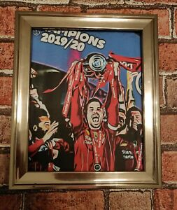 Liverpool fc 2020 champions Pop Art Tribute Football Picture