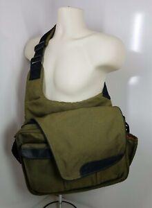 Diaper Dude Green Black Orange Baby Toddler Bag Messenger Changing Pad