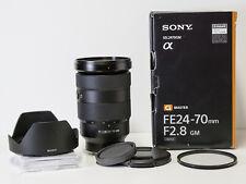 Sony SEL2470GM  FE 24-70mm F2.8 GM Standard Zoom Lens – Black for (ALC-SH141)