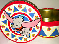 DUMBO TIN BOX Container VINTAGE DISNEY Disneyland Souvenir CIRCUS ELEPHANT Blue