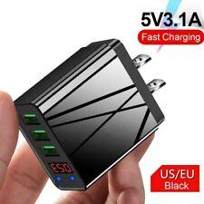 3 Port Fast Charge LED USB Display 3.0 Hub Wall Charger Power Adapter US/EU Plug
