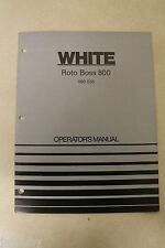WHITE ROTO BOSS 800 990-050 Operator's Manual rototiller catalog 11/1973 catalog