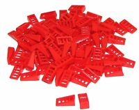 Lego Lot of 100 New Red Slope 18 2 x 1 x 2/3 with 4 Slots Pieces Parts Pieces