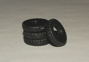 Matchbox King Size 18mm Black Hard Plastic Tires for Trucks and Cranes (18-1)