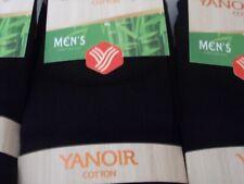 3 a 12 paires de chaussettes homme noir en fils naturel de bambou 98%