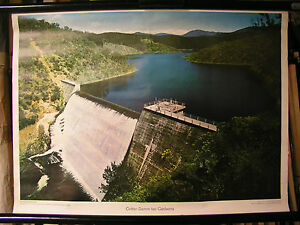 Schulwandbild Mural Image Cotter-Damm Dam At Canberra Australia 71x51cm