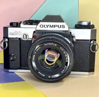 Olympus OM 20 35mm SLR Film Camera w/ 50mm 1:1.8 lens, Some Fungus! Working!