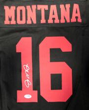 49ERS JOE MONTANA AUTOGRAPHED SIGNED BLACK NIKE JERSEY SIZE L PSA/DNA 113641