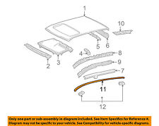 TOYOTA OEM 03-08 Corolla Roof-Drip Molding Left 7555602030