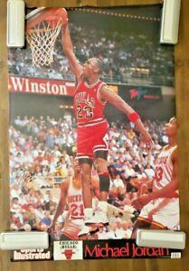 Michael Jordan 🏀 Sports Illustrated Dunk Poster.  EX/NM
