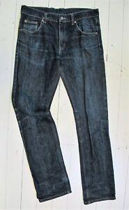 JEANS Dark blue DENIM Cheap Monday 31/34 Unisex Straight leg Classic Designer