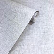Arthouse Linen Texture Light Grey Plain Wallpaper - 676006