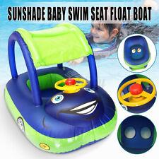 Надувной солнцезащитный козырек автомобиля Baby Kids плавающая лодка с сиденьем ребенка ясельного возраста бассейн автомобиль кольцо