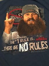DUCK DYNASTY The #1 Rule is There are NO Rules T-Shirt 2-sided Graphics Size S