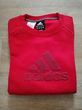 Adidas Boys Girls Sweatshirt Sweater Pullover Red New