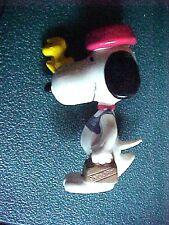 Peanuts Snoopy & Woodstock Figurine Briefcase & Bowl