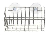 Wandregal mit 2 Saugnäpfen verchromt ohne Bohren Duschkorb Duschablage Badregal