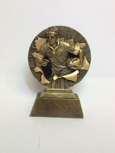 Gold rugby trophy sport award - Free engraving - 130mm