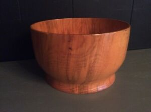 Gorgous Hand Carved Solid Wood Knot Burl Bowl 10""