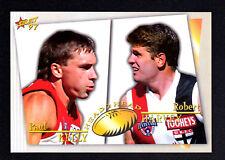 1997 Select AFL Head 2 Head JUMBO Card - Paul Kelly & Robert Harvey No.37 of 100