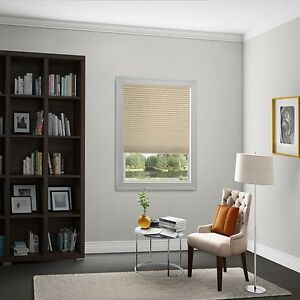 """Smith and Noble 1"""" Pleated Shades Soft White"""