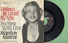 MARILYN MONROE I Wonna Be Loved By You U. ARTISTS 67031 Germany 1962 Single VG+