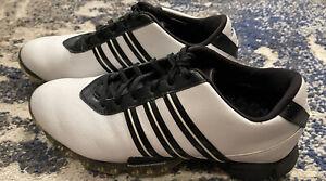 Adidas Men's Traxion Thintech Fit Foam White Black Golf Shoes Size 9