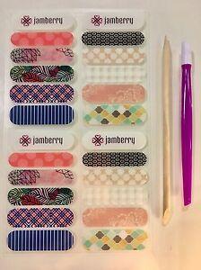 Jamberry 20 Accent Strips Nail Wraps Starter Kit samples bundle