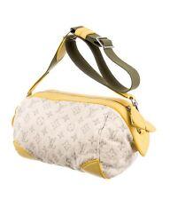 Louis Vuitton RUNWAY Pochette Round Yellow Denim Handbag Retail $2600