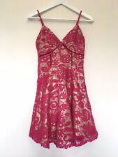 BNWT Gorgeous Raspberry Skater Dress Size 8
