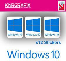 KNR7712 12x Windows 10 Sticker Decal Badge