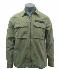 EX-ZARA NEW MEN'S DENIM JACKET KHAKI. CODE M-39 / H-210