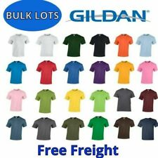 Gildan Cotton T-Shirts Bulk Lots S-Xl Wholesale Tee Shirts Choose Colors 5000