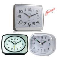 KG Homewares Sweep Silent Movement Beep Mini Travel Bed Alarm Clock, Multi Color