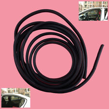 5M B-Shaped Black Car Door Window Protect Edge Rubber Weather Seal Strip Trim